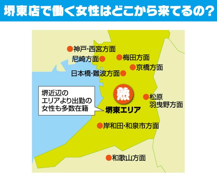 堺東店で働く女性はどこから来てるの?