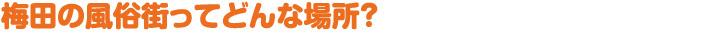 梅田の風俗街ってどんな場所?